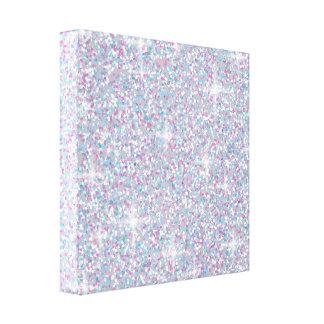 White iridescent glitter canvas print