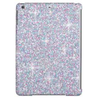 White iridescent glitter cover for iPad air