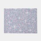 White iridescent glitter doormat