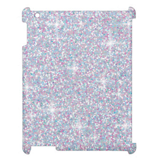 White iridescent glitter iPad covers