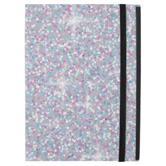 "White iridescent glitter iPad pro 12.9"" case"
