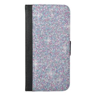 White iridescent glitter iPhone 6/6s plus wallet case