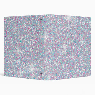 White iridescent glitter vinyl binder