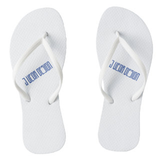 white j wear design flip flops