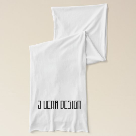 white j wear design jersey scarf