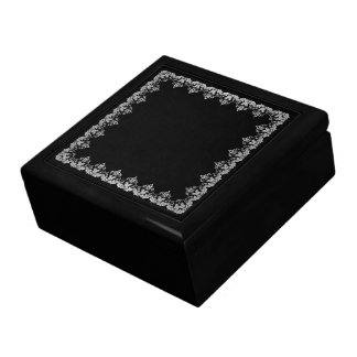 White Jabot Jewelry Box