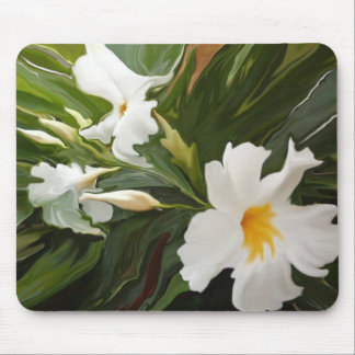 WHITE  JASMINE MOUSEPAD