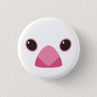 White java sparrow - Java sparrow (white) 1 Inch Round Button
