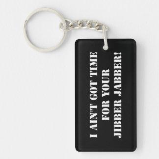 White Jibber Jabber Keychain