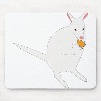 White kangaroo mouse pad