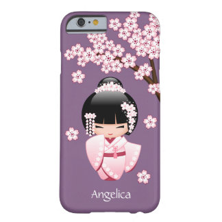 White Kimono Kokeshi Doll - Cute Geisha Girl Barely There iPhone 6 Case