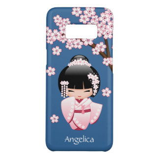 White Kimono Kokeshi Doll - Cute Geisha Girl Case-Mate Samsung Galaxy S8 Case