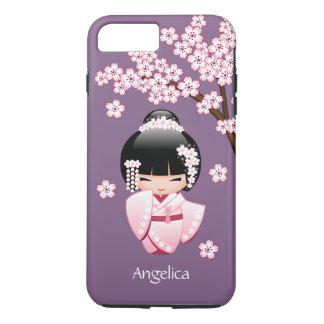 White Kimono Kokeshi Doll - Cute Geisha Girl iPhone 8 Plus/7 Plus Case