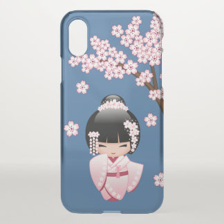 White Kimono Kokeshi Doll - Cute Geisha Girl iPhone X Case