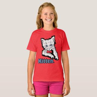 White Kitten Animal Print Kids Garment Merchandise T-Shirt
