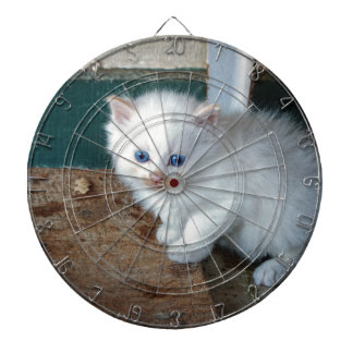 White Kitten Dartboard