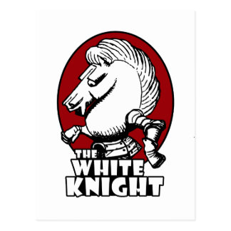 White Knight Logo Red Postcard