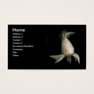 White Koi Business Card