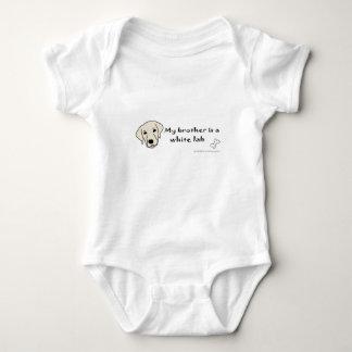 white lab baby bodysuit