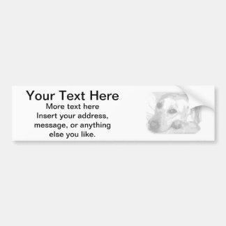 White Lab Graphic Bumper Sticker