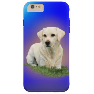 White Labrador Alert Tough iPhone 6 Plus Case