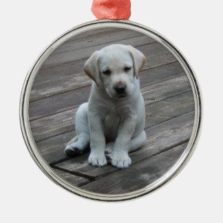 White Labrador Retriever Puppy Christmas Ornament