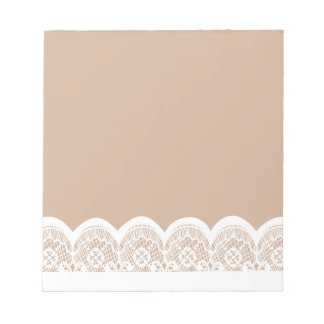 White Lace Band Custom Notepads