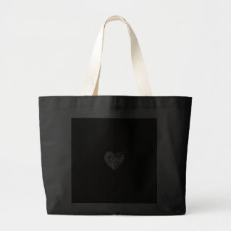 White lace heart (customizable background color) jumbo tote bag