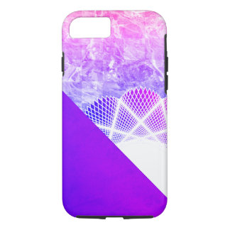 White Lace Lavender Purple Modern Marble iPhone 8/7 Case