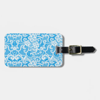 White Lace Luggage Tag