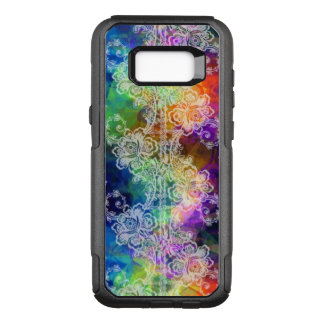 White Lace on Rainbow Tissue Paper OtterBox Commuter Samsung Galaxy S8+ Case