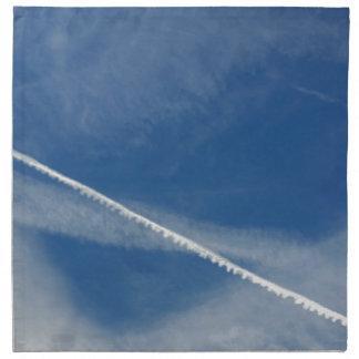 white lace on the sky napkin