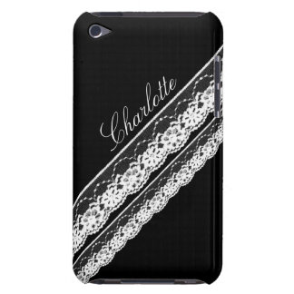 White Lace Ribbons iPod Touch Barely There Case Barely There iPod Case