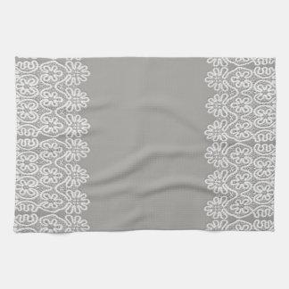 White Lace Tea Towel