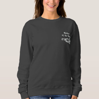 White Lace Wedding - Mother of the Bride Embroidered Sweatshirt