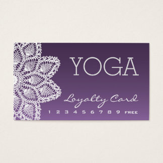 White Lace Yoga Loyalty Card