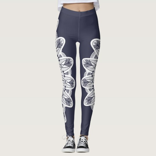 White Lacey Mandala Boho Chic Leggings
