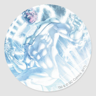 White Lantern Corps - Color Round Stickers