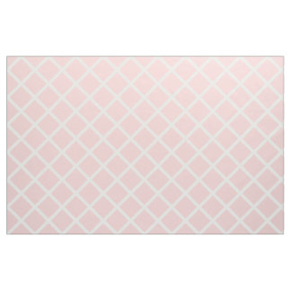 White Lattice on Baby Pink Fabric