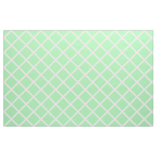 White Lattice on Spring Green Fabric