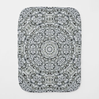 White Leaf Kaleidoscope Burp Cloth