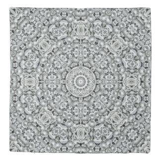 White Leaf Kaleidoscope    Duvet Covers