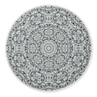 White Leaf Pattern   Ceramic Knobs And Pulls Ceramic Knob