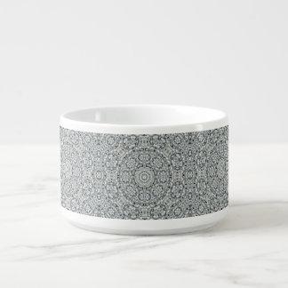 White Leaf Pattern Chili Bowls