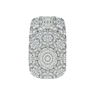 White Leaf Pattern   Minx Nail Art