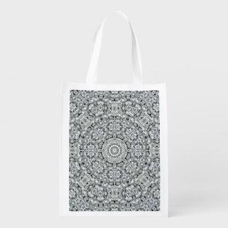 White Leaf Pattern Reusable Bag