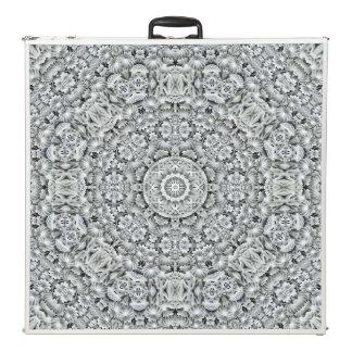 "White Leaf  Vintage Kaleidoscope 96""   Pong Table"
