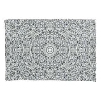 White Leaf Vintage Kaleidoscope   Pillowcases