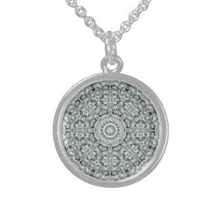 White Leaf   Vintage Sterling Silver Necklace