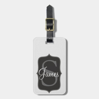 White Leather Inspired Faux Print Bag Tag